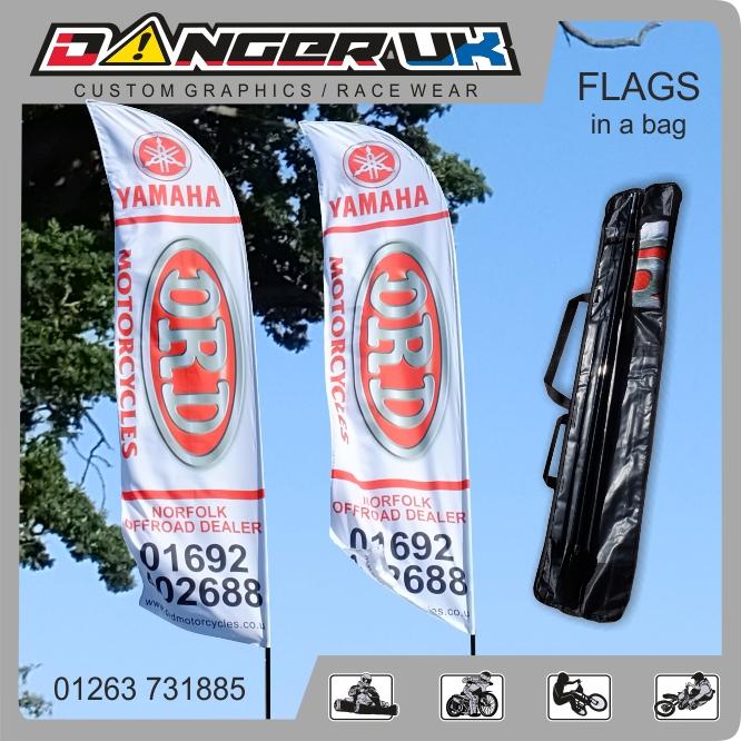 Flags in bag